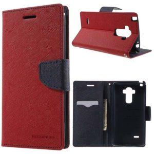 LG G4 Stylus Lompakkokotelo Punainen Fancy