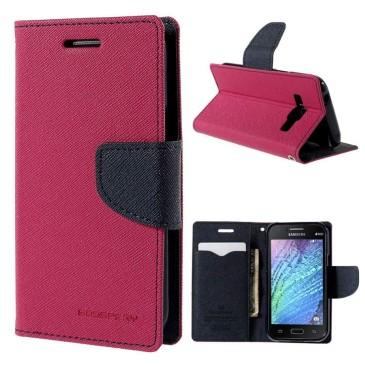 Samsung Galaxy J1 Pinkki Fancy Suojakotelo