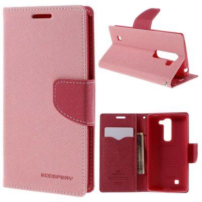 LG G4c Lompakko Suojakuori Vaaleanpunainen Fancy