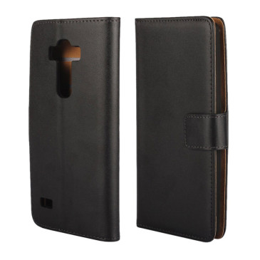 LG G4s H735 Musta Lompakko Nahkakotelo