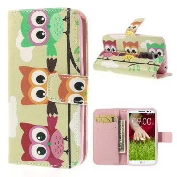 LG G2 Mini Lompakko Suojakotelo – Pöllö 1