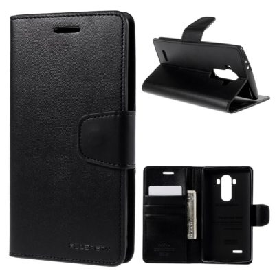 LG G4 H815 Lompakkokotelo Sonata Musta