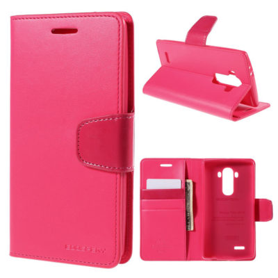 LG G4 H815 Lompakkokotelo Sonata Pinkki