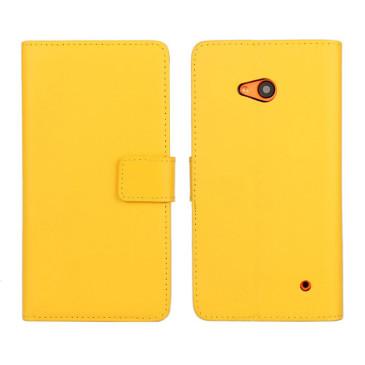 Microsoft Lumia 640 LTE Nahkakotelo Keltainen