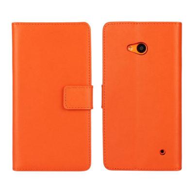 Microsoft Lumia 640 LTE Nahkakotelo Oranssi