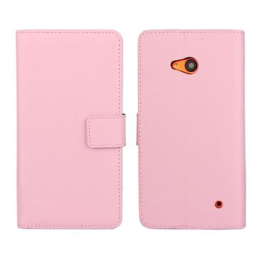 Microsoft Lumia 640 LTE Nahkakotelo Vaaleanpunainen