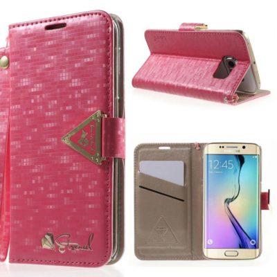 Samsung Galaxy S6 Edge Kotelo Leiers Pinkki