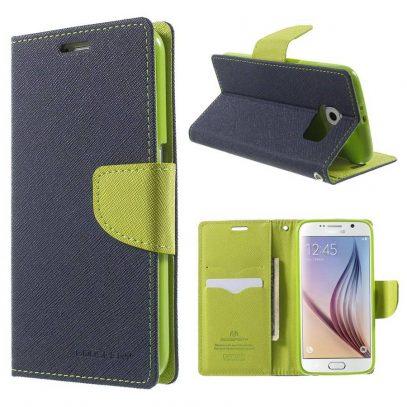 Samsung Galaxy S6 Suojakotelo Sininen Fancy