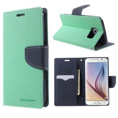 Samsung Galaxy S6 Suojakotelo Syaani Fancy