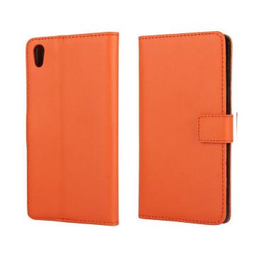 Sony Xperia Z5 Suojakotelo Oranssi Nahka