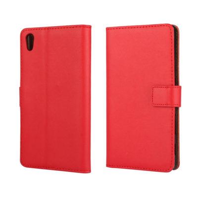 Sony Xperia Z5 Suojakotelo Punainen Nahka