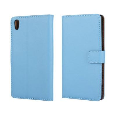Sony Xperia Z5 Suojakotelo Sininen Nahka