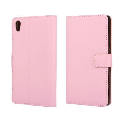 Sony Xperia Z5 Suojakotelo Vaaleanpunainen Nahka