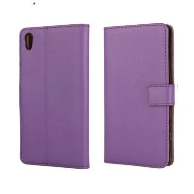 Sony Xperia Z5 Suojakotelo Violetti Nahka
