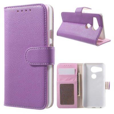 LG Nexus 5X Suojakotelo Violetti Lompakko