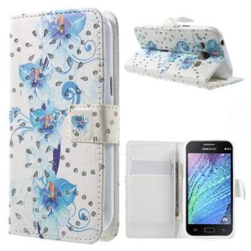 Samsung Galaxy J1 Kotelo Kimalle Kukka 2