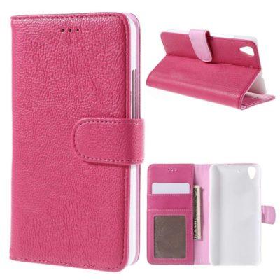 Huawei Y6 Suojakotelo Pinkki Lompakko