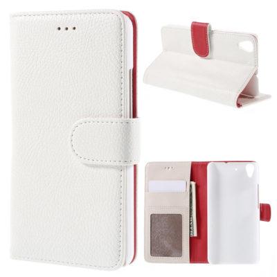 Huawei Y6 Suojakotelo Valkoinen Lompakko