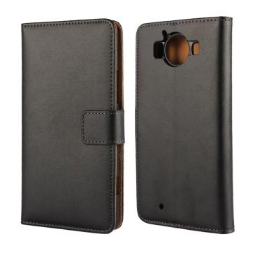 Microsoft Lumia 950 Kotelo Musta Nahka