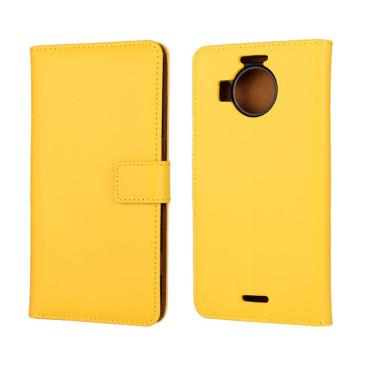 Microsoft Lumia 950 XL Nahkakotelo Keltainen