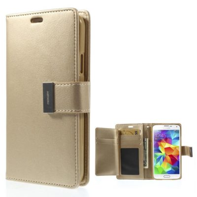 Samsung Galaxy S5 Kotelo Rich Diary Kulta