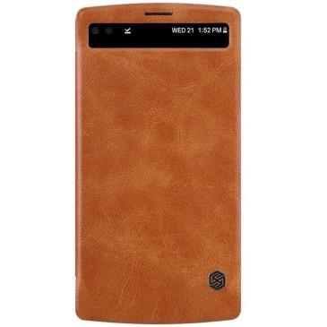 LG V10 Suojakuori Nillkin Qin Ruskea