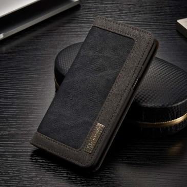 Samsung Galaxy S8 Kotelo Caseme Kangas Musta