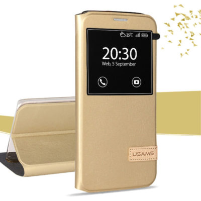 Samsung Galaxy S7 Edge Kotelo USAMS Kulta