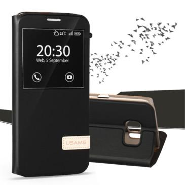 Samsung Galaxy S7 Edge Kotelo USAMS Musta