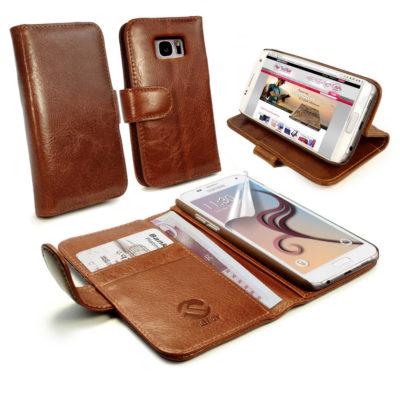 Samsung Galaxy S7 Nahkakotelo Tuff-Luv Ruskea