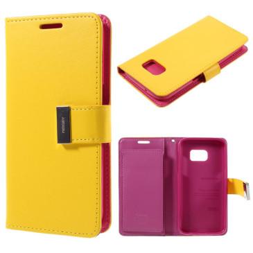 Samsung Galaxy S7 Suojakotelo Rich Diary Keltainen