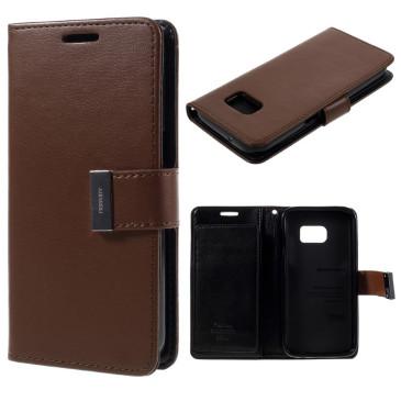 Samsung Galaxy S7 Suojakotelo Rich Diary Ruskea