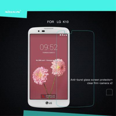 LG K10 4G Lasinen Näytönsuoja Nillkin