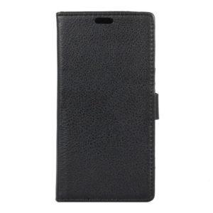 LG K10 4G Lompakkokotelo Suoja Musta