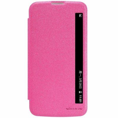 LG K10 4G Suojakuori Nillkin Sparkle Pinkki
