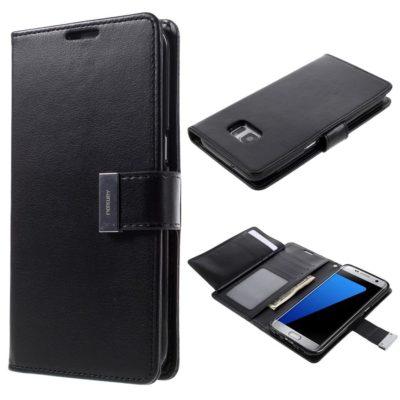 Samsung Galaxy S7 Edge Kotelo Musta Rich Diary