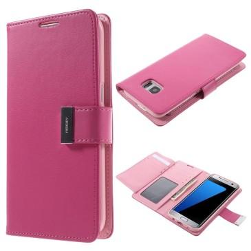 Samsung Galaxy S7 Edge Kotelo Pinkki Rich Diary