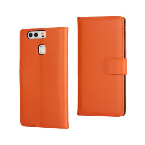 Huawei P9 Suojakotelo Oranssi Nahka
