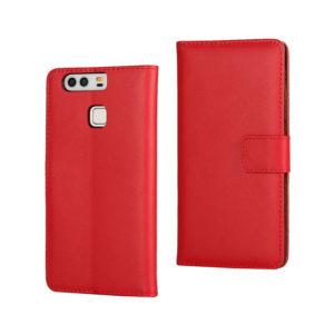 Huawei P9 Suojakotelo Punainen Nahka