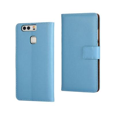 Huawei P9 Suojakotelo Sininen Nahka