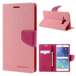 Samsung Galaxy J5 (2016) Kotelo Fancy Vaaleanpunainen
