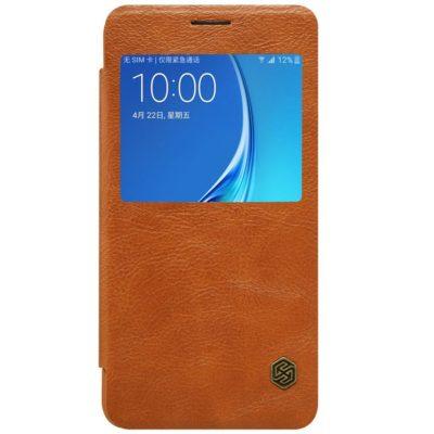 Samsung Galaxy J5 (2016) Suojakuori Nillkin Qin Ruskea