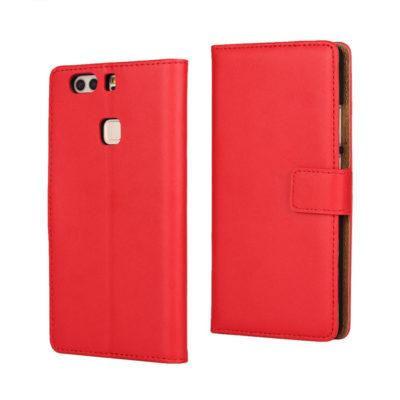Huawei P9 Plus Nahkakotelo Punainen