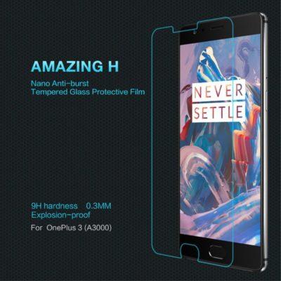 OnePlus 3 / 3T Lasinen Näytönsuoja Nillkin Amazing H