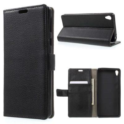 Sony Xperia E5 Suojakotelo – Musta Lompakko