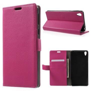 Sony Xperia E5 Suojakotelo – Pinkki Lompakko