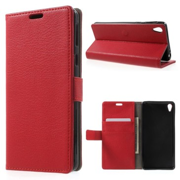 Sony Xperia E5 Suojakotelo – Punainen Lompakko