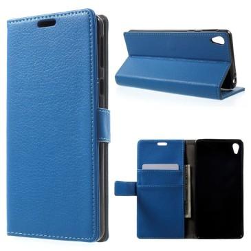 Sony Xperia E5 Suojakotelo – Sininen Lompakko
