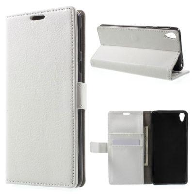 Sony Xperia E5 Suojakotelo – Valkoinen Lompakko