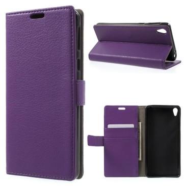 Sony Xperia E5 Suojakotelo – Violetti Lompakko